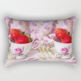 Strawberry time Rectangular Pillow