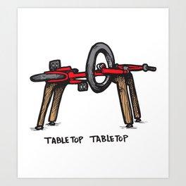 Tabletop Tabletop Art Print