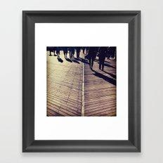 Boardwalk people Framed Art Print