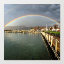 Rainbow over Seneca Lake Canvas Print