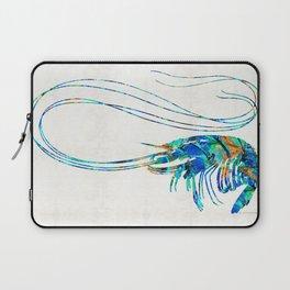 Blue Shrimp Art by Sharon Cummings Laptop Sleeve