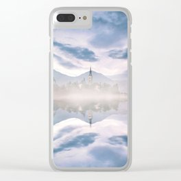 misty waters Clear iPhone Case