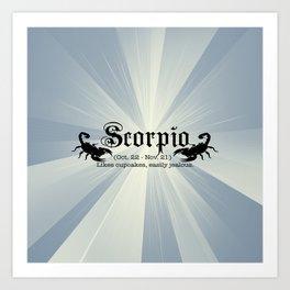 Scorpio Art Print