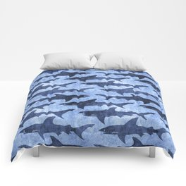 Blue Ocean Shark Comforters