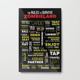 Surviving Zombieland Metal Print