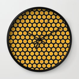 Orange Citrus Slices on Black Wall Clock