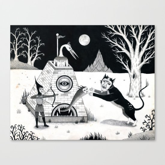 Night Attack Canvas Print