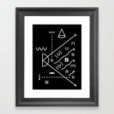 Soundbeams Framed Art Print