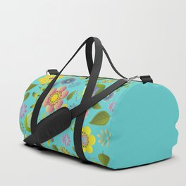 Petty Floral Pattern 3 Duffle Bag