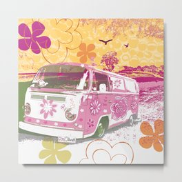 girl camper Metal Print