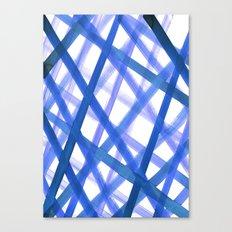 Criss Cross Blue Canvas Print