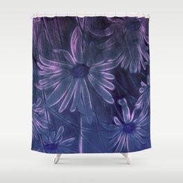 Blue Daisy Shower Curtain