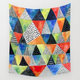 Doodled Geometry Wall Tapestry