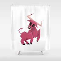 taurus Shower Curtains featuring Taurus! by Yetiland