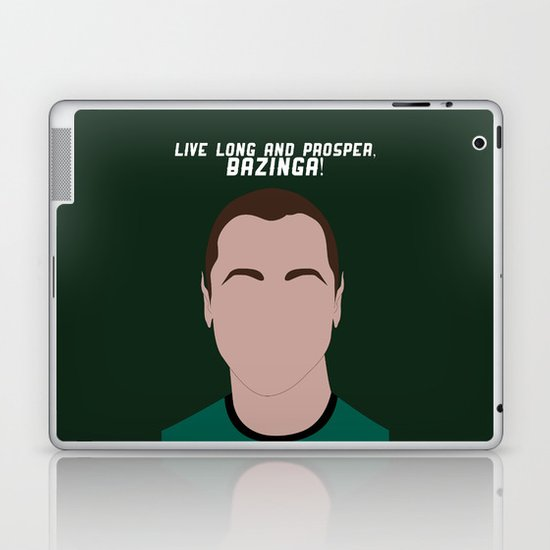 Live Long and Prosper, Bazinga! Laptop & iPad Skin