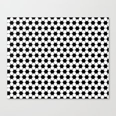 Ball pattern - Football Soccer black and white pattern Canvas Print