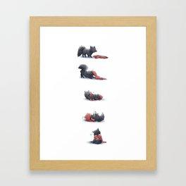 Wolf & Hoodie Framed Art Print