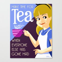 Make Time For Tea Canvas Print
