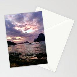 El Nido Purple Sunset Stationery Cards