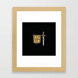 Zelda Sword & Shield Framed Art Print