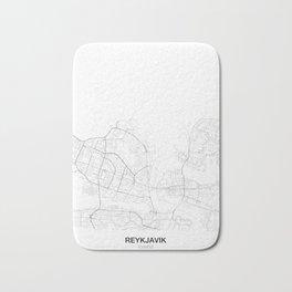 Reykjavik, Iceland Minimalist Map Bath Mat