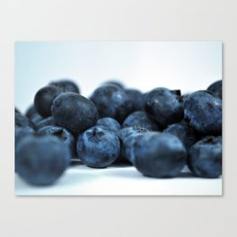 Fresh Ripe Blueberries Canvas Print