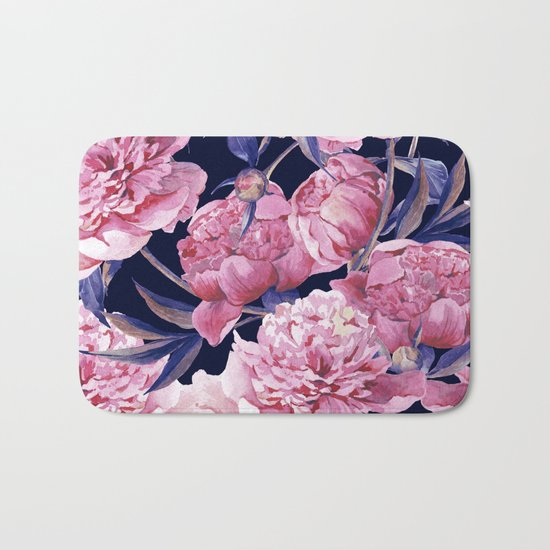 Flower Fashion Print Bath Mat