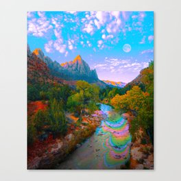 Flowing With The River Canvas Print