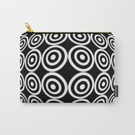 Tribute to Vasarely 7 -visual illusion- black circle Carry-All Pouch