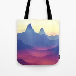 Mountains of Another World Tote Bag