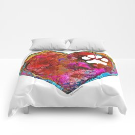 Dog Art - Puppy Love 2 - Sharon Cummings Comforters