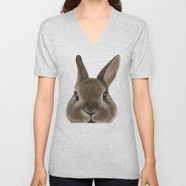 Netherland Dwarf rabbit illustration original painting print Unisex V-Neck