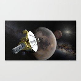 New Horizons - Pluto and Charon Canvas Print
