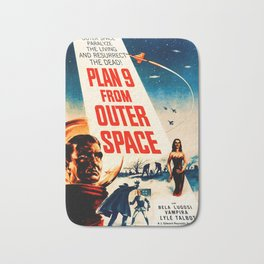 Plan 9 from Outer Space, vintage movie poster Bath Mat