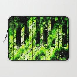 piano keys and music sheet pattern wseegr Laptop Sleeve