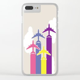 Colorful airplanes Clear iPhone Case