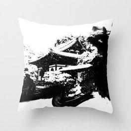Winter in Kyoto - Japan Throw Pillow