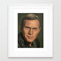 steve mcqueen Framed Art Prints featuring Steve McQueen by scottmitchell