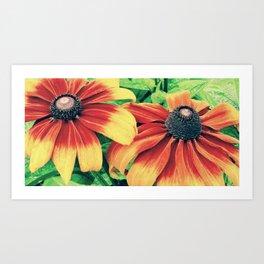 Close Floral Friends Art Print