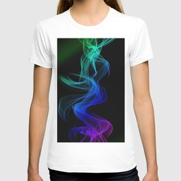 smoke clots colorful entwined T-shirt