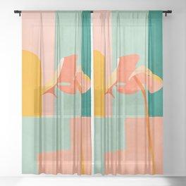 tropical geometry Sheer Curtain