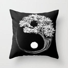 Yin Yang Tree Throw Pillow
