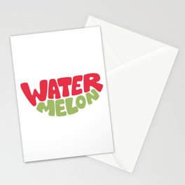 Watermelon Typography Stationery Cards