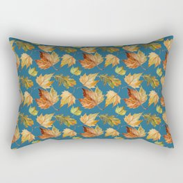 Petrol and leaves Rectangular Pillow