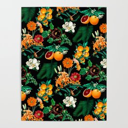 Fruit and Floral Pattern Poster