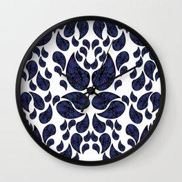 Paisley purple and teal Wall Clock