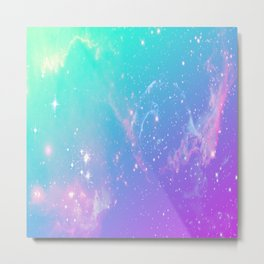 galaxy pastel Metal Print