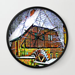 At the mill Wall Clock