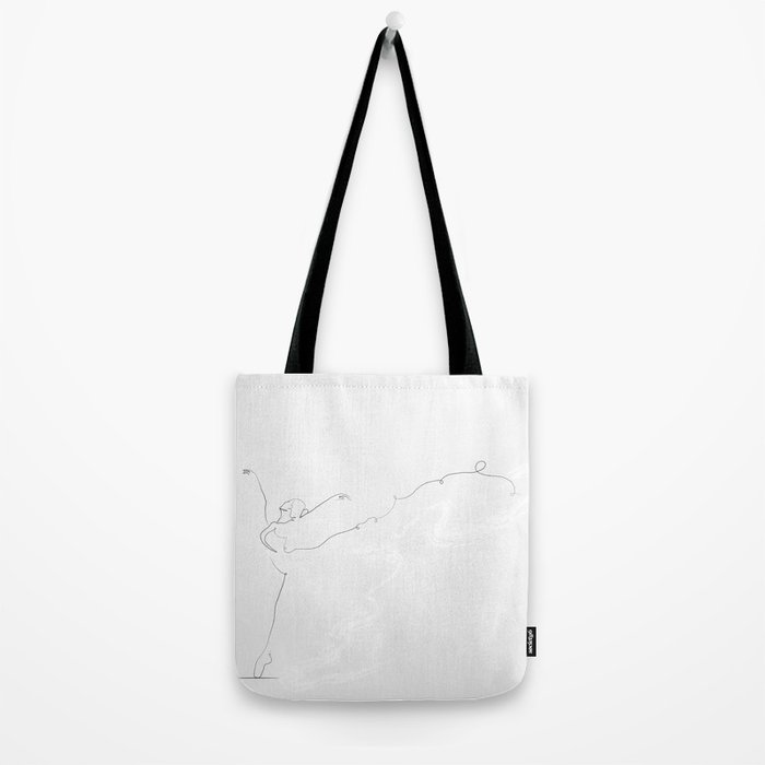 'Essence II', Dancer Line Drawing Tote Bag