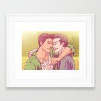 daunt Framed Art Prints featuring Golden by Daunt